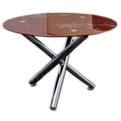 Round Brown Dinning Table