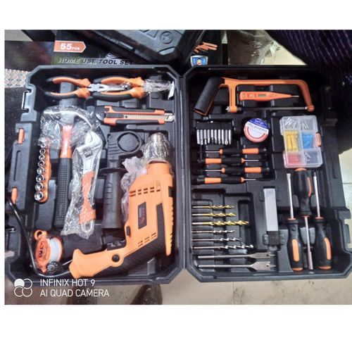 Tools Box Mechanical SET WITH DRILL Domestic Portable Repairings Power Tools Kit