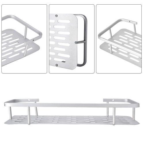 Aluminum Wall Mounted Storage Shelf Rack Bathroom Kitchen