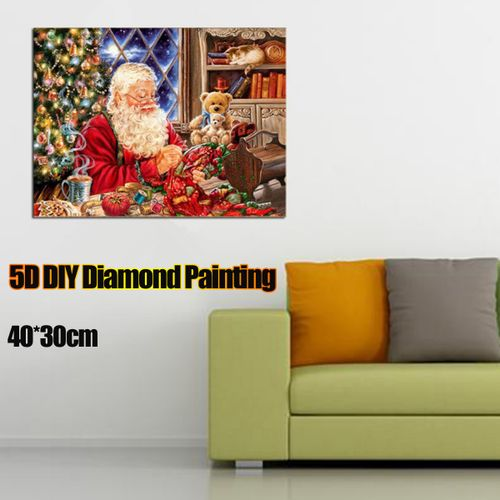 40*30cm Christmas Santa Claus DIY 5D Diamond Embroidery Painting Cross Stitch