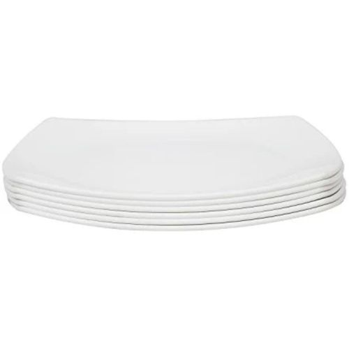 Unbreakable Ceramic Plates White (6pieces)