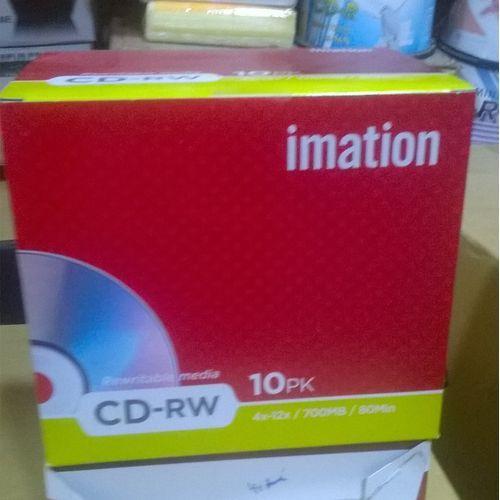 10pc High Speed Imation Rewritable Media CD-RW-(4x-12x/700MB