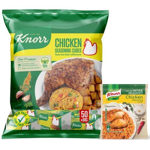 Chicken Cubes 50x8g + Free Knorr Chicken Seasoning Powder