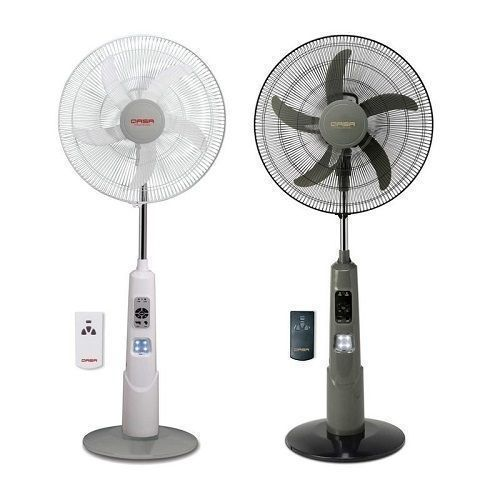 """18"""" Rechargeable Standing Fan + Remote + LED Light +USB Port"""