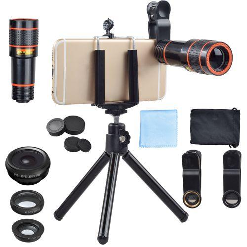 4 In 1 Lens Kit 12X Zoom Cellphone Camera Lens Telescope