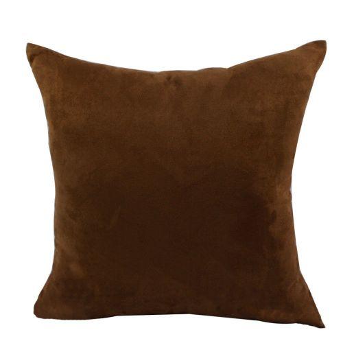 Mohap Set Of 2- Gray Pillowcases 65X65Cm Pillowcase With Microfibre Zipper Brown