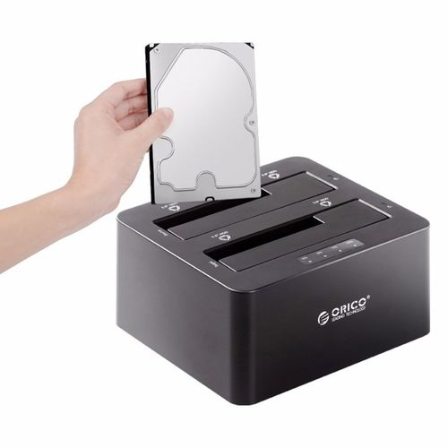 ORICO6629US3-C-V1-BK 2-bay 2.5/3.5 Inch External Hard Drive Docking Station