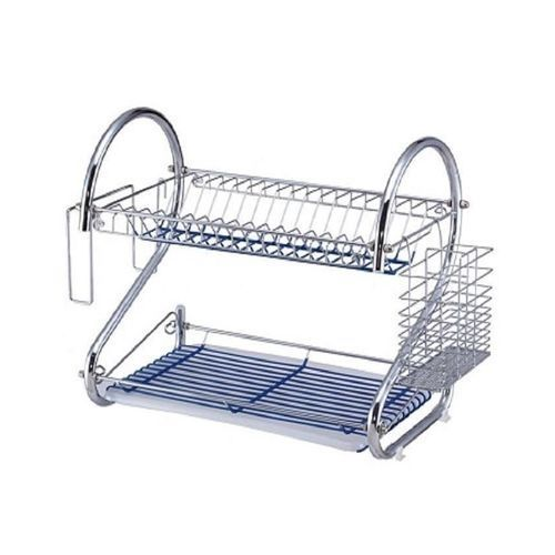 Stainless Double Layer Dish/Plate Rack- Silver