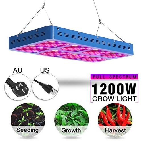 1200W LED Grow Light Panel Lamp For Hydroponic Plant Veg Growing Full Spectrum 240 Lights AC85-265V 50-60HZ 90° Mixed Lens View Angle