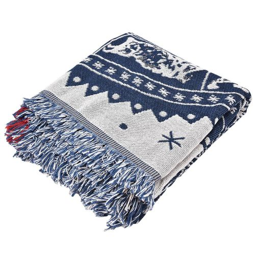 Blanket Double Sided Zodiac Constellations Cotton Woven Couch Throw Blanket Carpet Plaid Sofa Blanket