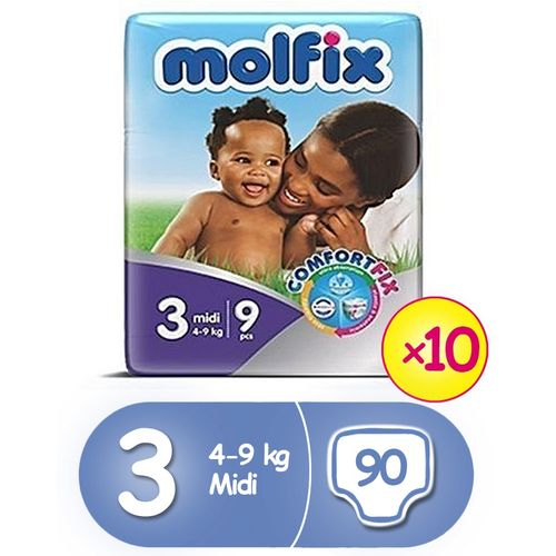 ComfortFix Diapers, Size 3 (x 10) (Total 90 Count)