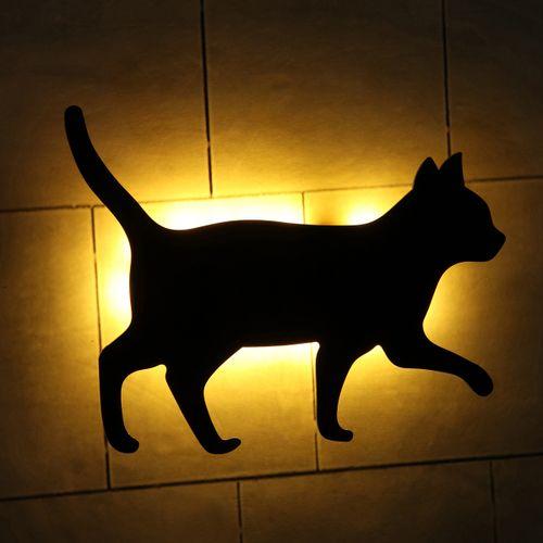 Cat LED Night Lamp Auto Light Control Sensor