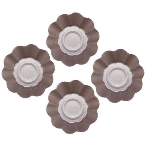 4PCS Non-sticky Cake Egg Tart Mold Baking Box Egg Tarts Tray Cake Mould Wrapper Decorating Tools Stainless Steel