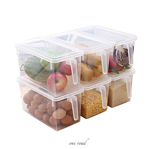 Refrigerator With Handle Sealed Cereal Plastic Transparent Box
