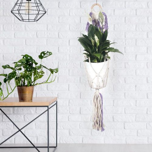 Plant Hanger Handmade Indoor Outdoor Hanging Planter Wall Hanging Basket Holder For Home Decor