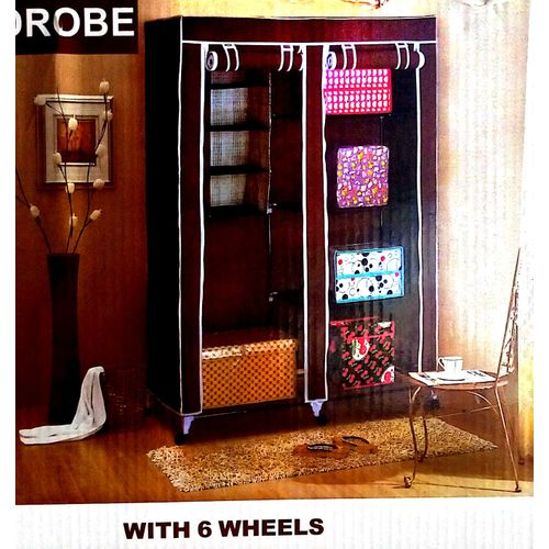 Mobile Moveable Wardrope With Wheels & Cloth Hanger