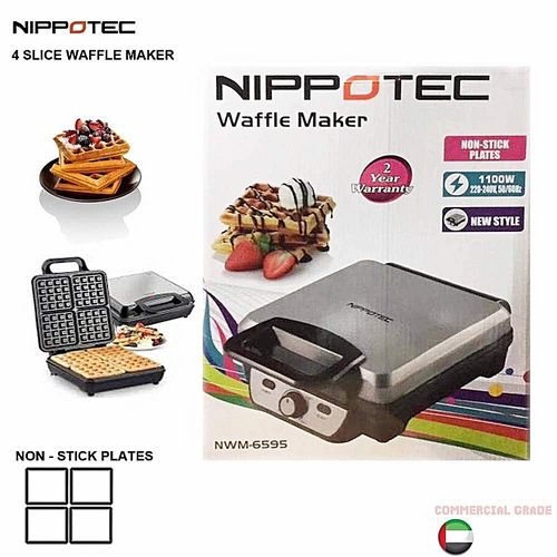 Nippotec 4 Slice Waffle Maker