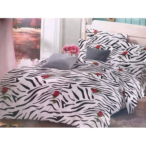 Patterned Bedsheet Set With 4 Pillow Cases And Duvet