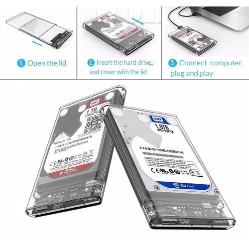 "[Buy 1 Get 1 Free Gift] 2.5"" SATA To USB 3.0 Hard Drive Disk Enclosure HDD SSD Storage Box Case"