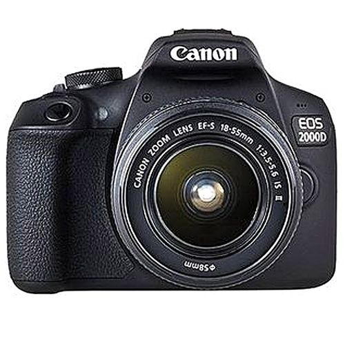 EOS 2000D DSLR With 18-55mm II Lens + Free 16GB Memory Card - Black
