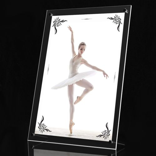 Acrylic Photo Frame Poster Wall Picture Holder Perspex Clear Display 13.2''x18''
