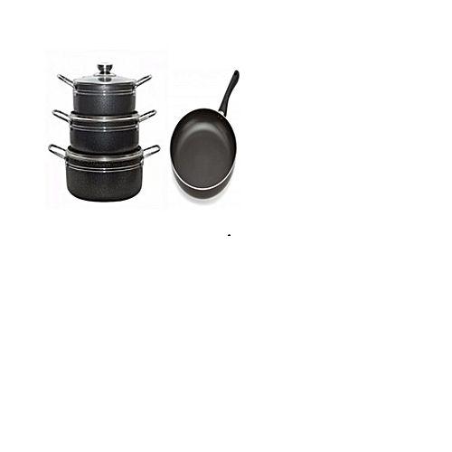 3 Set Cooking Pot And Fry Pan Non Stick