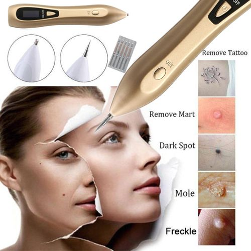 9 In 1 LCD Laser Freckle Dark Spot Removal Pen Machine Skin Mole Wart Tag Remove