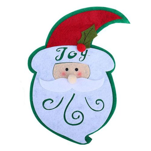 Christmas Claus Snowman Shape Fork Tableware Package Storage Covers Bag A