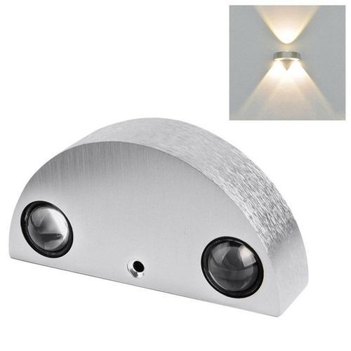 Modern 9W 3-LED Wall Light Up & Down Lamp Sconce Home Bedroom Fixture [Warm White]