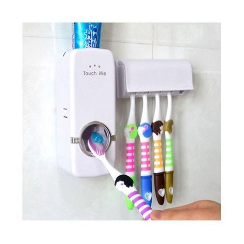 Tooth Brush Holder And Toothpaste Dispenser