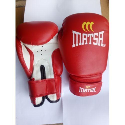 Matsa Red Adult Leather Boxing Glove