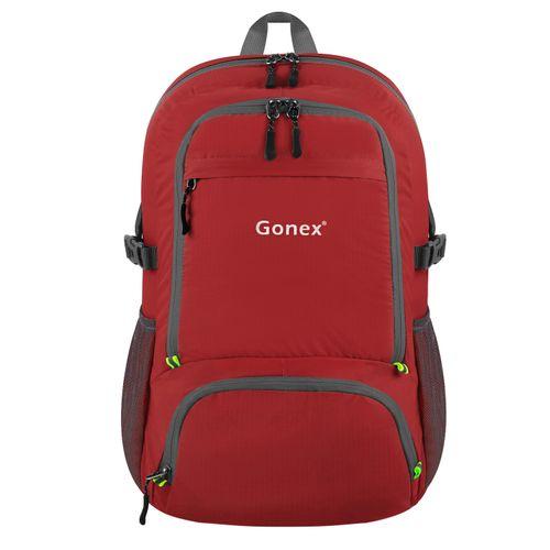 Unisex Foldable 30L School Lightweight Travel Backpack Laptop Bag For HP Lenovo Laptops Tablet Unisex - Dark Red