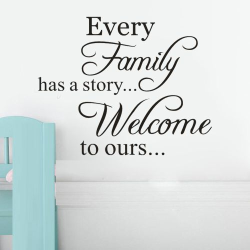 Every Family Removable Art Vinyl Mural Home Room Decor Wall Stickers