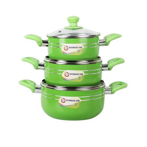 6Pcs Non Stick Cookware Set - Green