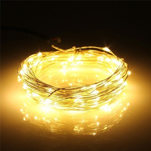 10M Silver Wire String Fairy Light Remote Control Chirstmas