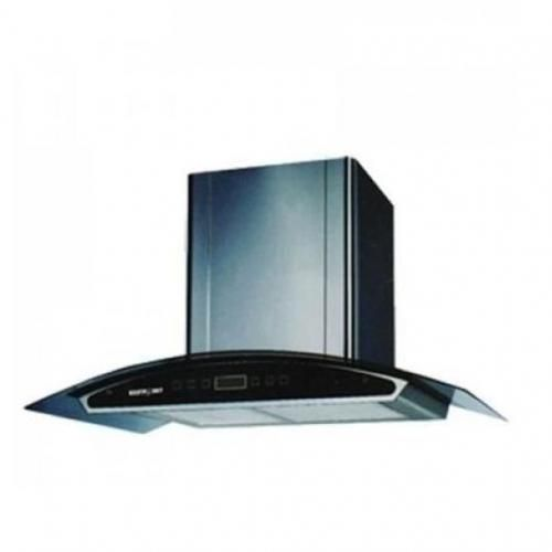 Cooker Hood With Vent + Non Vent Black - 90cm HD60