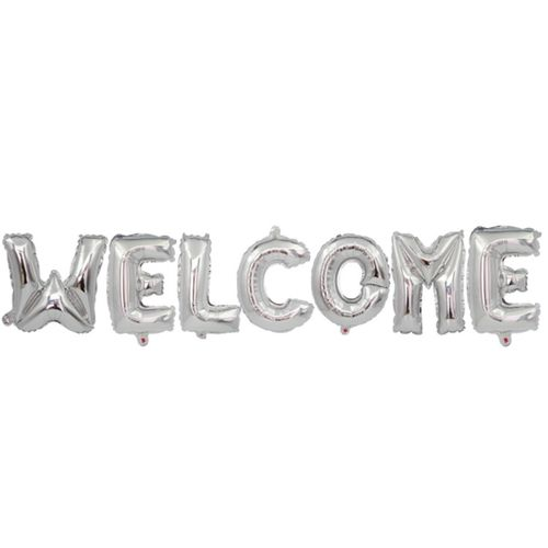 16 Inch Welcome Letter Balloon Set-SILVER