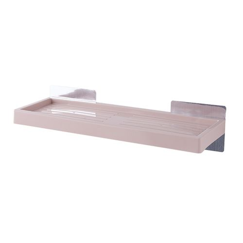 UK Plastic Wall Suction Storage Shower Shelf Rack Bathroom Kitchen Toilet Holder