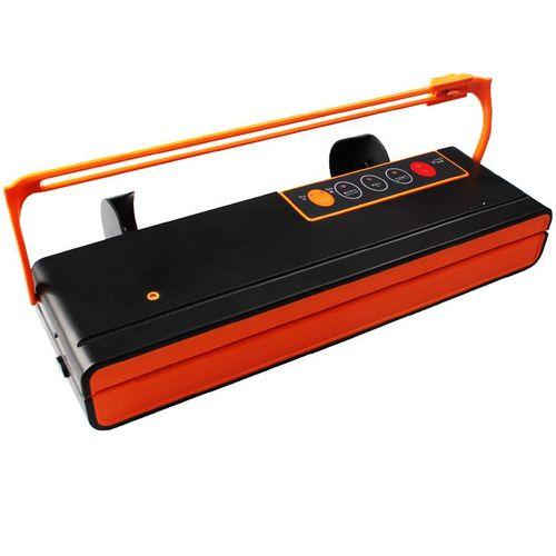 Vacuum Sealer Packing Machine Packaging Food Saver Sealing Machine With Automatic Cutting Vacuum Bag 10pcs For Free(Black)