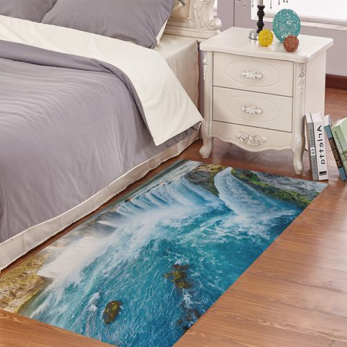 Lodaon Waterfall Removable 3D Floor Sticker Decal Mural Living Room Home Decor