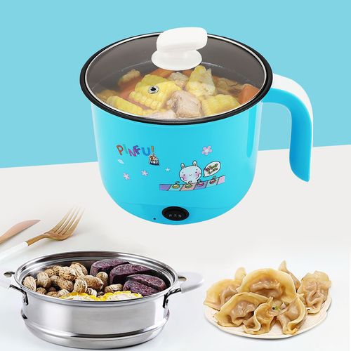 1.8V Mini Blue Electric Stainless Steel Rice Cooker For Dorm Students (220V CN Plug)