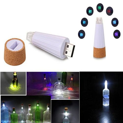 DC5V White/Multicolor USB Rechargeable LED Bottle Cap Light RGB