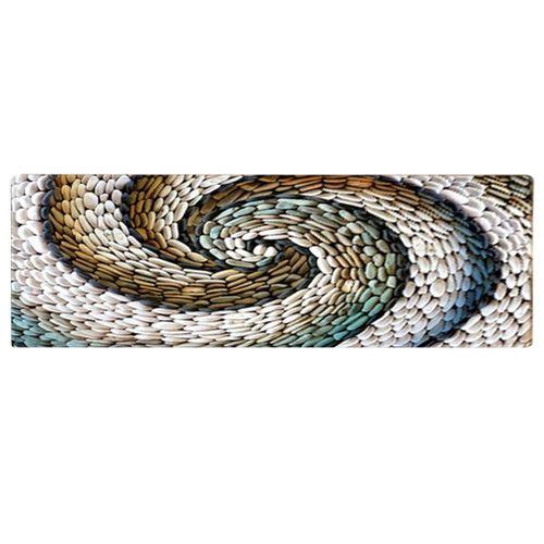 Anti-slip Water Absorbant Floor Mat Rotation Cobblestone Rug Home Living Room Bedroom Decor