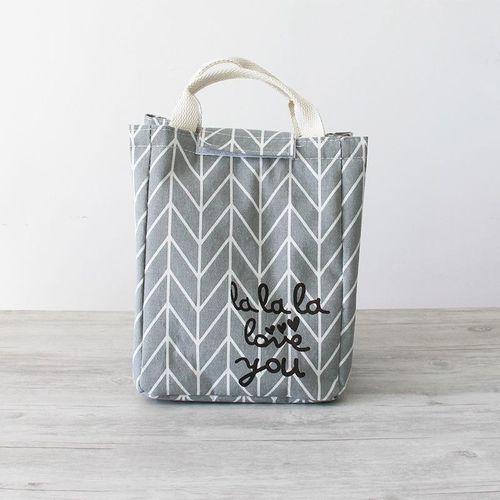 KCASA KC-CB06 Woman Hand-held Lunch Tote Bag Travel Picnic Cooler Insulated Handbag Lunch Bag