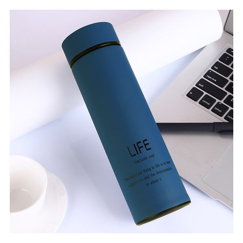 LIFE Vacuum Cup Stainless Steel Water Bottle - Blue