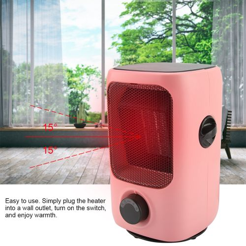 220-240v PTC Ceramic Space Heater Desk Fan Heater Personal Electric Heater Auto-Oscillating With Thermostat