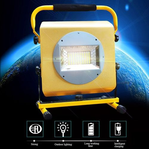 100W 100 LED Portable Cordless Work Light Rechargeable Flood Spot Camping Lamp