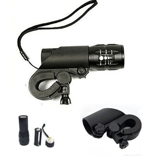 Three Telescopic Focusing Light Flashlight LED Mini Flashlight Dimming Tactical Outdoor Flashlight And Bicycle Gun Lamp Holder Combination 3pcs/set