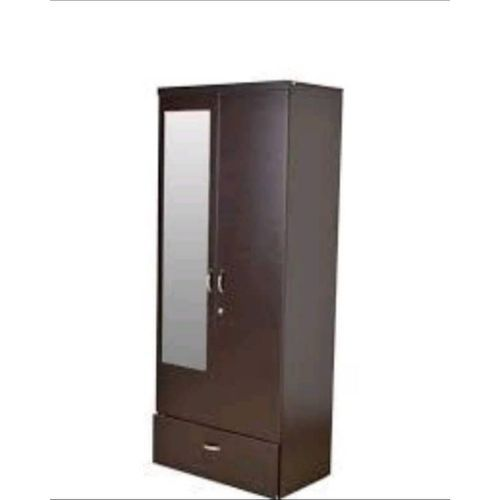 4ft Wardrobe With Mirror - Brown (Lagos Orders Only)