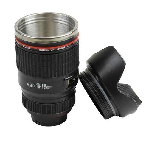 Camera Lens Shape Cup Coffee Tea Travel Mug